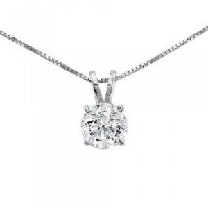 Jewelry - Solitaire Diamond Necklace Pendant 0.50 Carats